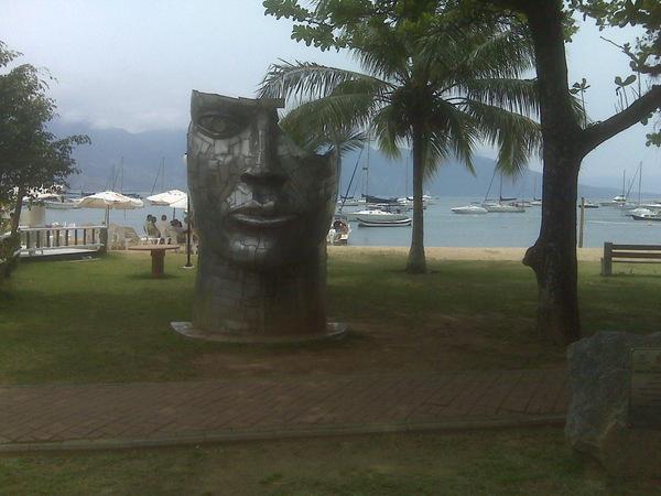 Stylized sculpture on Ilhabela