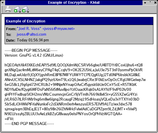 KMail Receive Encrypted