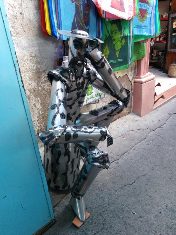 Don Quixote made of sheet metal